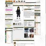 Screenshot, Playray character page by 2008.