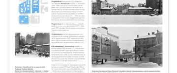 A sample spread. Old  photos: E. Sundström & I. Timiriasew (bottom right),  Helsinki City Museum. The rest © Tengbom Eriksson Architects